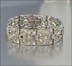 Hey, I found this really awesome Etsy listing at http://www.etsy.com/listing/153315099/art-deco-bracelet-rhinestone-silver