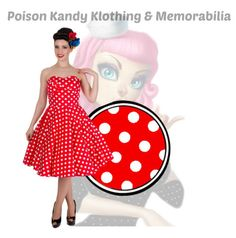 Ladies Dress - Melissa Retro Party Dress Red White Polka – PoisonKandyKlothing