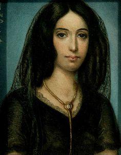 """George Sand (1804-1876)  """"Le 5 juillet 1804, je vins au monde, mon père jouant du violon et ma mère ayant une jolie robe rose. Ce fut l'affaire d'un instant. J'eus du moins cette part de bonheur que me prédisait ma tante Lucie de ne point faire souffrir longtemps ma mère"""" (Histoire de ma vie)"""