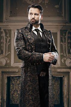 Steampunk inspiration for him Steampunk Cosplay, Mode Steampunk, Steampunk Wedding, Victorian Steampunk, Gothic Wedding, Steampunk Clothing, Steampunk Fashion Men, Victorian Costume, Gothic Fashion