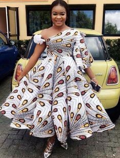 The complete collection of Exotic Ankara Gown Styles for beautiful ladies in Nigeria. These are the ideal ankara gowns African Prom Dresses, African Wedding Dress, African Dresses For Women, African Attire, African Wear, African Fashion Dresses, African Women, Nigerian Fashion, Ankara Fashion