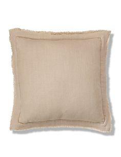 Linen with Fringe Cushion | M&S