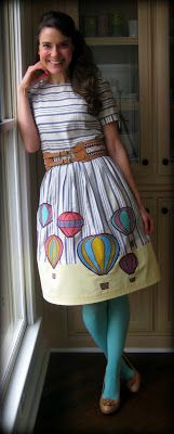 A delightfully awesome hot air balloon dress (love!). #fashion #dresses