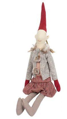 Danish Christmas, Scandinavian Christmas, Christmas Elf, White Christmas, Christmas Ornaments, Pixie Outfit, Handmade Angels, Felt Toys, Bunny