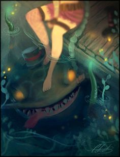 by Celiart - Tahm Kench and Jinx