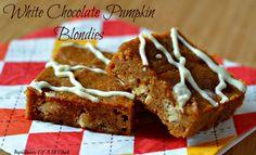 White Chocolate Pumpkin Blondies