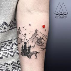 Best friends ever! Dot Tattoos, Body Art Tattoos, Tribal Tattoos, Hiking Tattoo, Camping Tattoo, Sleeve Tattoos For Women, Tattoos For Guys, Theme Tattoo, Forearm Tattoo Design