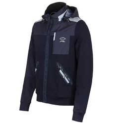 Paul & Shark Navy Zip Through Hooded Jacket