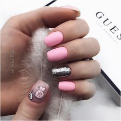 Pig nail art is in a high demand now. The 2019 year is a year of a yellow pig. See the cutest nail designs with this year`s symbol! Pig Nail Art, Pig Nails, New Year's Nails, Acrylic Nail Shapes, Acrylic Nails, Acrylics, Nail Shapes Square, Flare Nails, Nailart