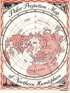 Map of the Northern  Hemisphere