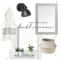 A MINIMAL WHITE BATHROOM. Littlefew.com    A minimal white bathroom. Un  baño minimalista y decorado en blanco. Nordic inspiration ... 2df422d6b319