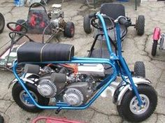 BONANZA Minibike/Death Dealer. Shock absorbers? Anyone? We need some shocks over here... test pilot lost some teeth.