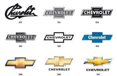 The evolution of the Chevy bowtie. Classic