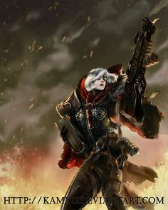 I had the pleasure of painting the cover image for the new Sisters of Battle Codex for WH40k under the art direction of Darius Hinks. Super fun Here's the official stuff on FB: www.facebook.com/pho...
