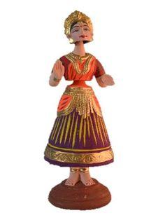 Kondapalli doll Dancing doll  18* 18 *45