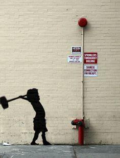 7 pochoirs de Banksy en version Gif - Le Nouvel Observateur