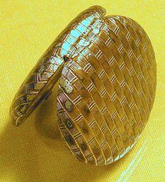 AVON Vintage Compact Mirror Basket Weave by RosePetalResources, $12.00