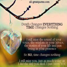 Death Changes Everything... Time Changes Nothing