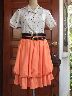 A personal favorite from my Etsy shop https://www.etsy.com/listing/276616782/pumkin-skirt-in-orange