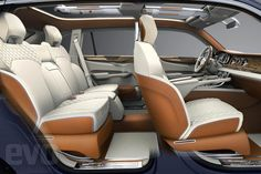 It's finally SUV time for Bentley. Read more about the Bentley EXP 9 F Concept in this first look from the automotive experts at Automobile Magazine. Bentley Suv, New Bentley, Chevy, Automobile, Luxury Crossovers, Auto Motor Sport, Suv Cars, Geneva Motor Show, Animals
