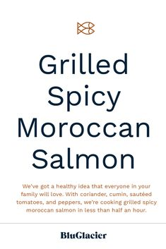 Looking to spice up dinner this week with a new savory recipe? We've got a healthy idea that everyone in your family will love. With coriander, cumin, sautéed tomatoes, and peppers, we're cooking Grilled Spicy Moroccan Salmon in less than half an hour. Savory Salmon Recipe, Salmon Recipes, Marinated Salmon, Dinner This Week, Lemon Wedge, Yogurt Sauce, Sliced Tomato, Us Foods