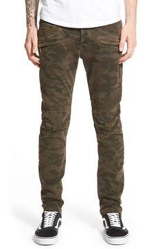 Men's Hudson Jeans 'Blinder' Skinny Fit Moto Jeans (Ares Camo)