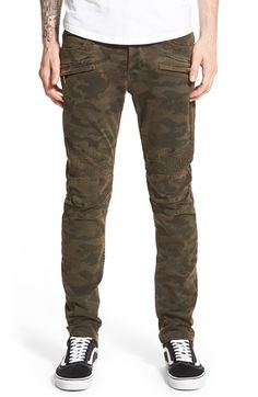 Hudson Jeans 'Blinder' Skinny Fit Moto Jeans (Ares Camo)