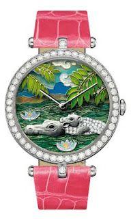 Van Cleef & Arpels Lady Arpels African landscape Limited Watch