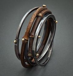 Bamboo Bangle by Fred & Janis Tate Designs 450.00 || http://www.fredandjanistatedesigns.com/bracelets.html