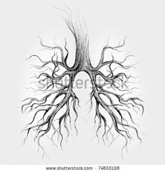 Tree - Lungs Of The Earth / Realistic Sketch Stock Vector 74833108 : Shutterstock