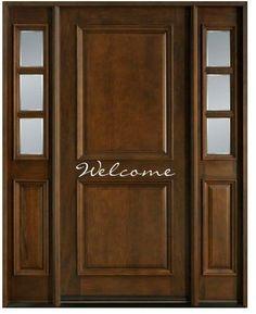 Welcome Sign Vinyl Decal Sticker - multiple sizes front door wall window\u2026