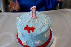 Airplane Birthday Party, Smash Cake