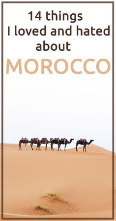 Things I hated and loved about Morocco.  URL : http://amzn.to/2nuvkL8 Discount Code : DNZ5275C