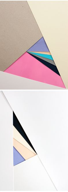I love these paper posters because of the use of colour and angles. The paper adds layers and a small 3D effect because of the way you can see the paper is laid over one another. I think the different colour papers work well and could work for a key code.