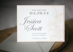 Wedding Save the Dates  Baroque Save the Date Card by FoglioPress, $5.00