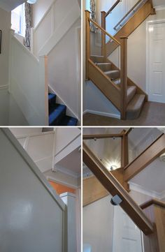Before and after glass and wood staircase renovations – Medlock Staircases – Home Renovation Oak Stairs, Wood Staircase, Staircase Remodel, House Stairs, Staircase Design, Staircase Ideas, Staircases, Stair Design, Hallway Ideas