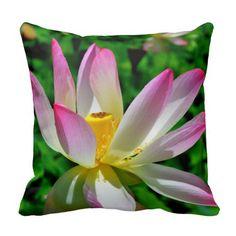 Lotus Blossom Throw Pillow