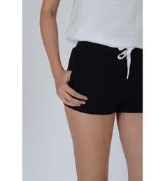 Lovemystyle Draw String High Waisted Black Shorts Black High Waisted Shorts, Black Shorts, Casual Shorts, Linen Shorts, Cotton Shorts, Draw, Clothes For Women, Lady, Fashion
