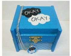 The perfect gift for any John Green fan !! - handpainted & decorated wooden box & necklace inspired by the wonderful book ... The Fault in our Stars * wooden jewelry / keepsake box  aprox 4x4. * one 1 inch pendant necklace on a 24 inch chain. - I have several images to choose from.