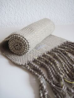Organic Cotton Handwoven Scarf by Same Heart Designs.