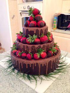 birthday cake with strawberry