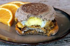 Make-Ahead Egg McMuffin Copycats-- pinning this just to keep the idea in mind. I made the muffins from scratch and froze the sandwiches for quick breakfasts and dinners. My men approve.