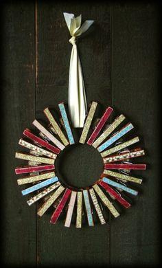Clothespin Wreath Card Holder | May Arts: teacher gift