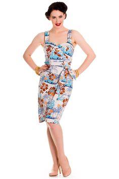 Hell Bunny Tiki Sarong Dress