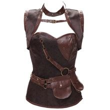 Plus Size Espartilho 2 Colors Gothic Clothing Sexy Retro Steampunk Corsets Spiral Steel Boned Brocade Corsets And Bustier S-6XL //Price: $US $28.38 & Up To 18% Cashback //     #steampunk