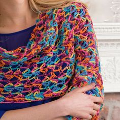 Neon Light Crochet Shawl | AllFreeCrochet.com