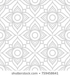 Thai flowers seamless vector pattern, grey floral repetitive design inspired by art from from Thailand Floral Thai wallpaper, tiled Asian background on white Pattern Images, Vector Pattern, Pattern Design, Thai Pattern, Thai Design, Coffee Shop Design, Thai Art, Vector Flowers, Textile Patterns