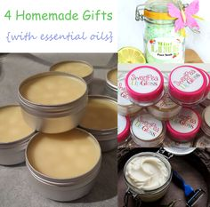 4 Homemade Christmas Gifts Made With Essential Oils