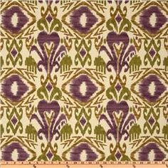 Richloom Solarium Indoor/Outdoor Sumter Ikat Vineyard - Home Decor Fabric. $15.00, via Etsy.