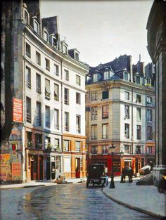 Photos de Paris en couleur en 1900 Rue de Viarmes